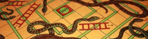 a game of snakes and ladders